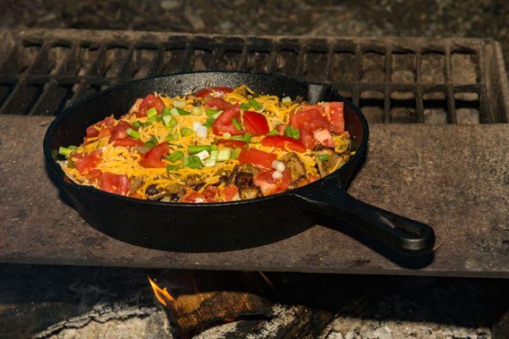 campfire-nachos-on-grill | Campfire Recipes