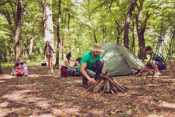 team-work-young-bearded-male-tourist | camping tent