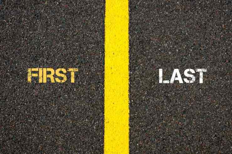 Antonym concept of FIRST versus LAST written over tarmac-Simple Packing Tips