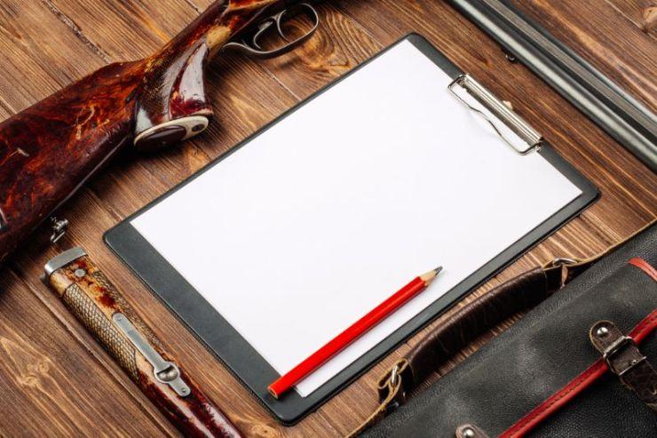 blank-clipboard-pen-hunting-equipment-on   skills SHTF