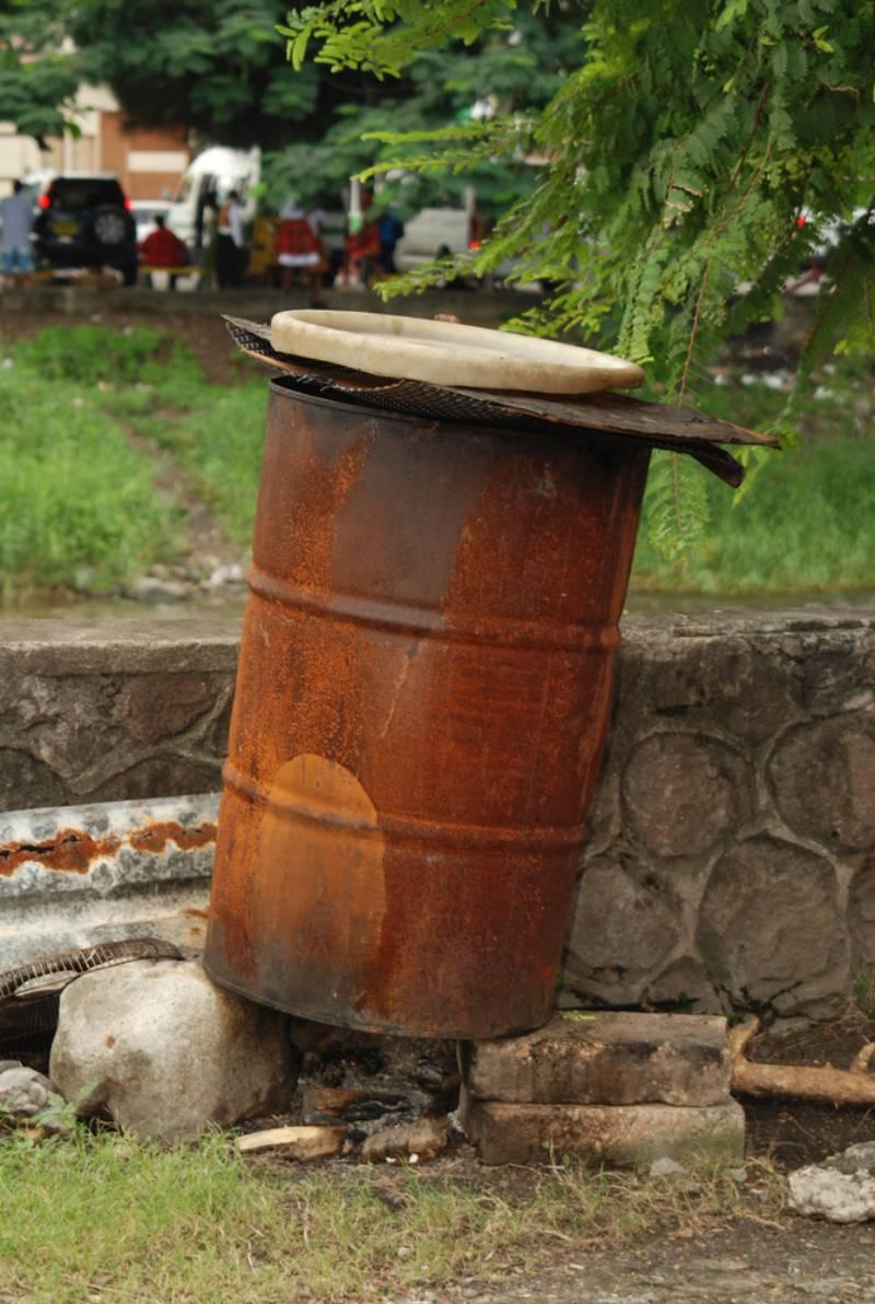 old-drum-used-garbage-disposal   Drinking Water