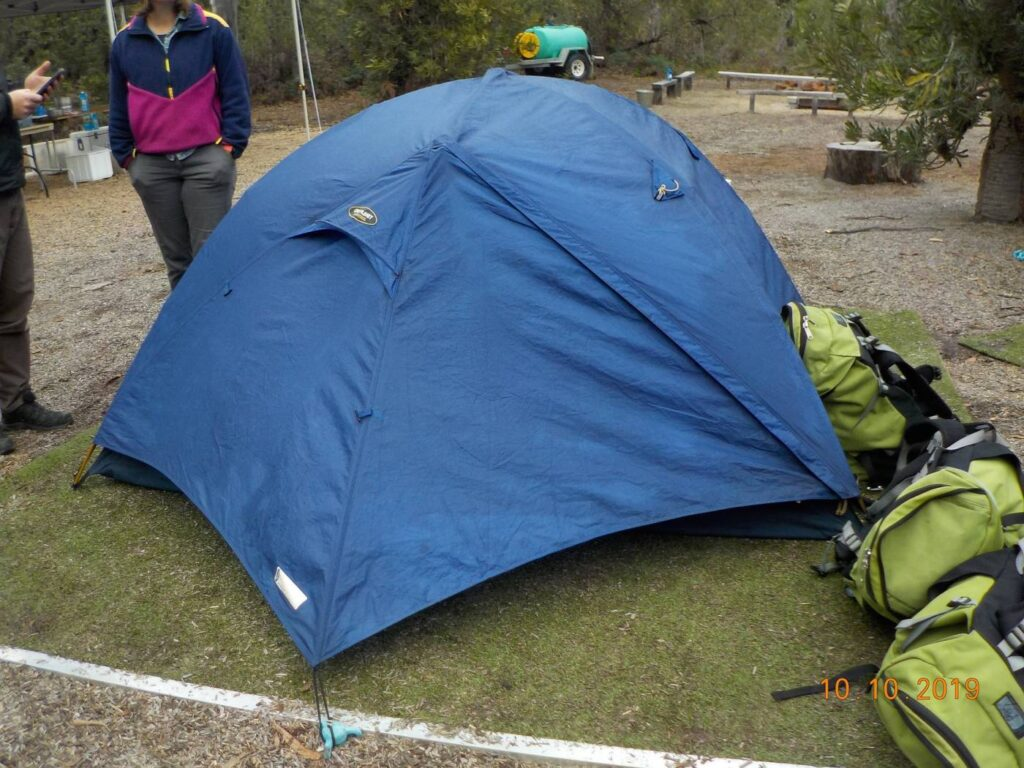 tent on camping grounds