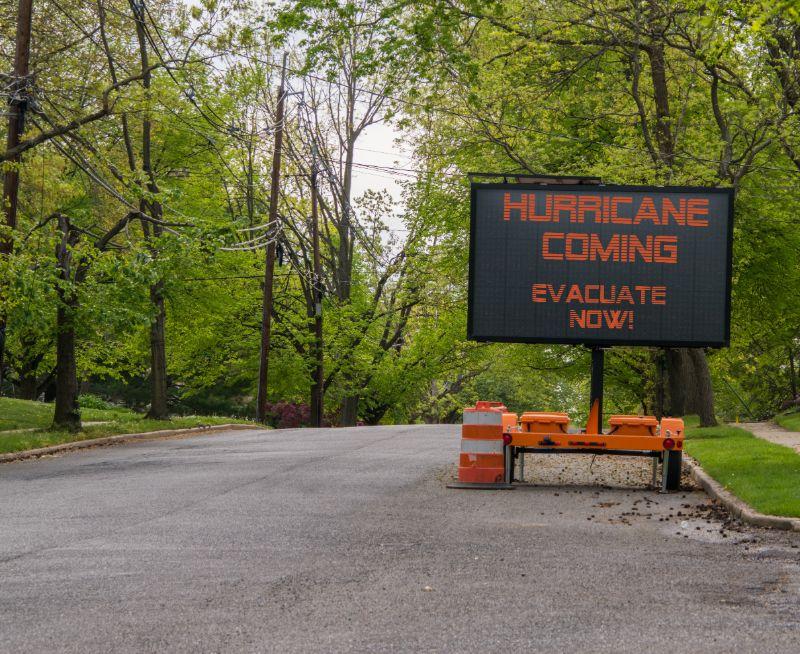 Evacuation sign | Hurricane survival guide