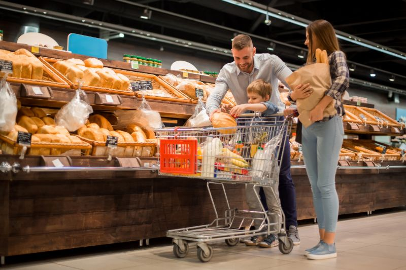 Family grocery shopping | Hurricane survival guide