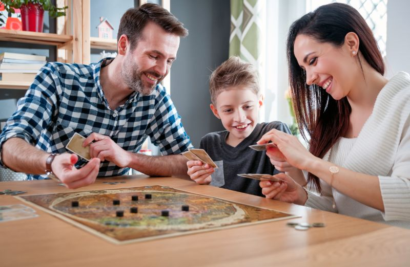 Playing board games   Hurricane preparedness