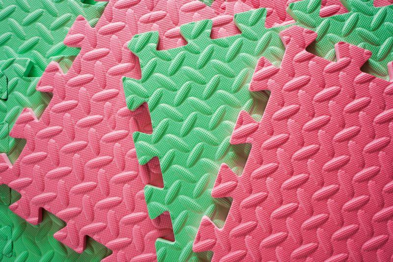 Colorful interlocking foam tile   REI camping