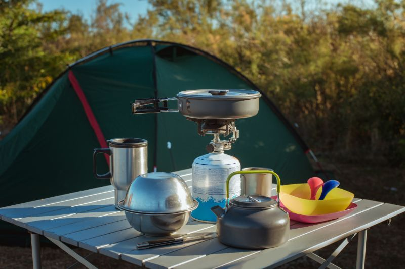 Check out Best Camping Table Ideas 2021 at https://survivallife.com/camping-table/