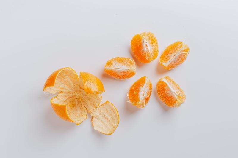 Peeled Fresh Juicy Ripe Slices of Mandarin | Camping Food Hacks