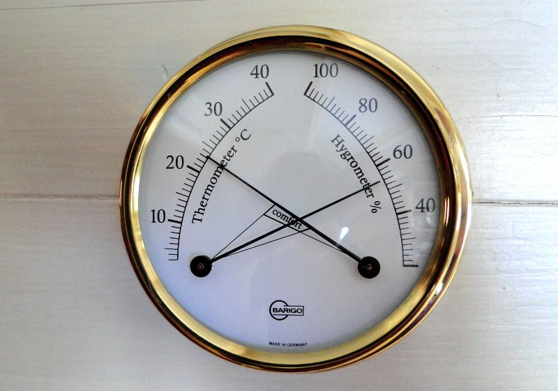 Thermometer and Hydrometer in Golden Frame | Camping Food Hacks