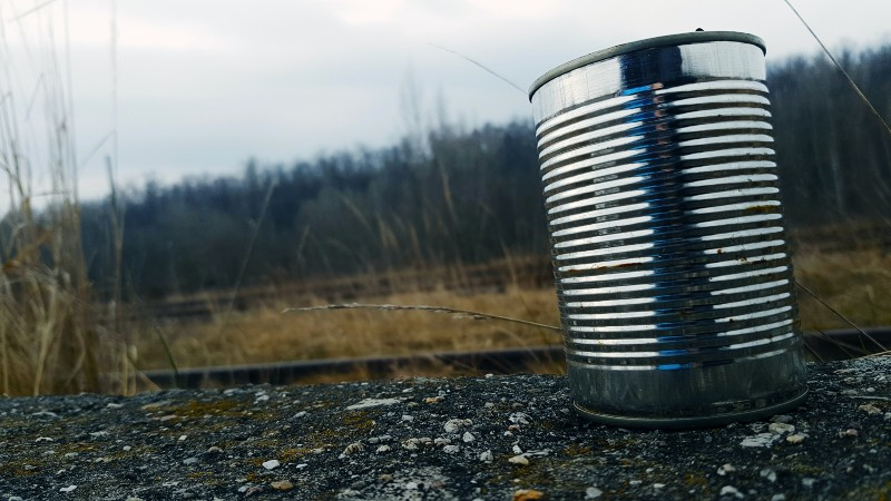 Tin Can on Gravel Surface | Camping Food Hacks