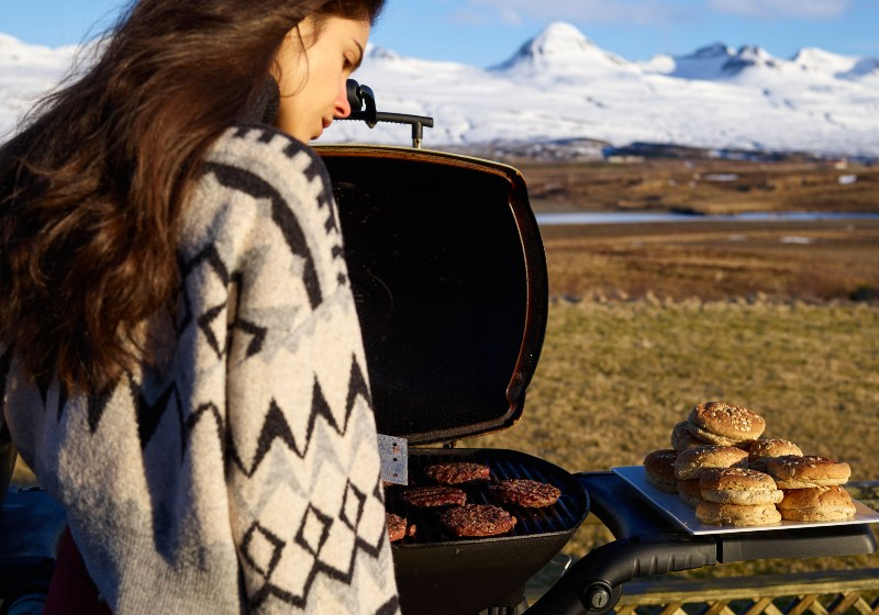 Woman Near Portable Bbq in Countryside | Camping Food Hacks